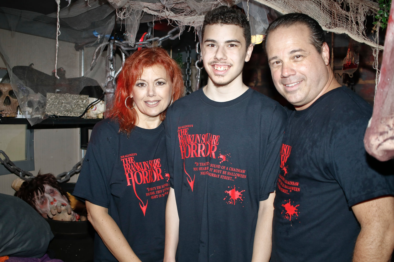Allocco will celebrate 23 years of his Franklin Square Horror with his son, Joseph Tyler, and wife, Linda.