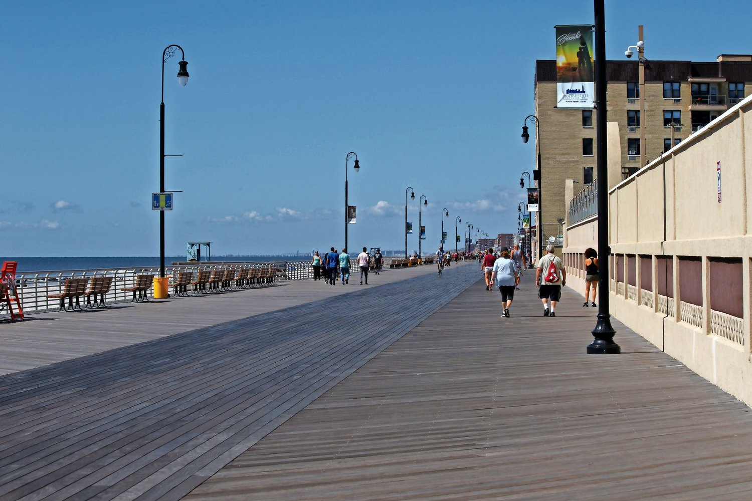 officials noted the city's recovery in the six years since Hurricane Sandy, including the reconstruction of the 2.2-mile boardwalk which was destroyed in the storm.