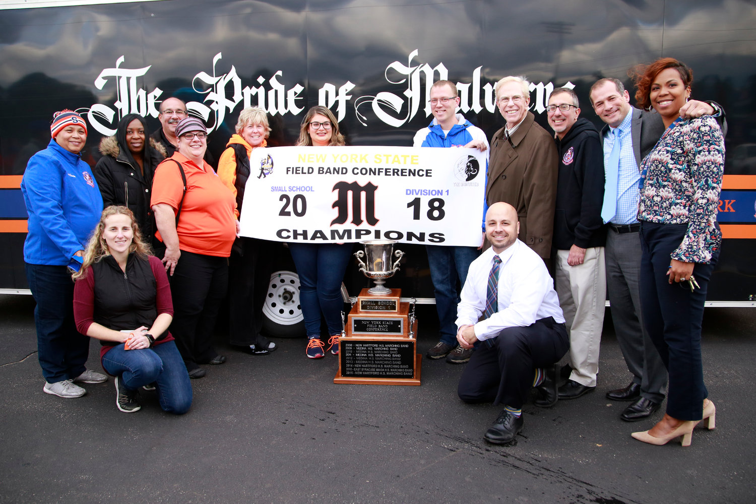 Malverne's marching band won their fourth championship in the last 12 years.