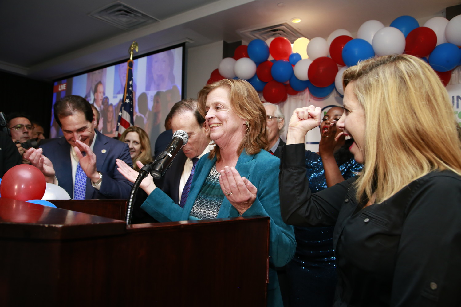 Democrat Judy Griffin unseated Brian Curran in the 21st Assembly District in Tuesday's election.