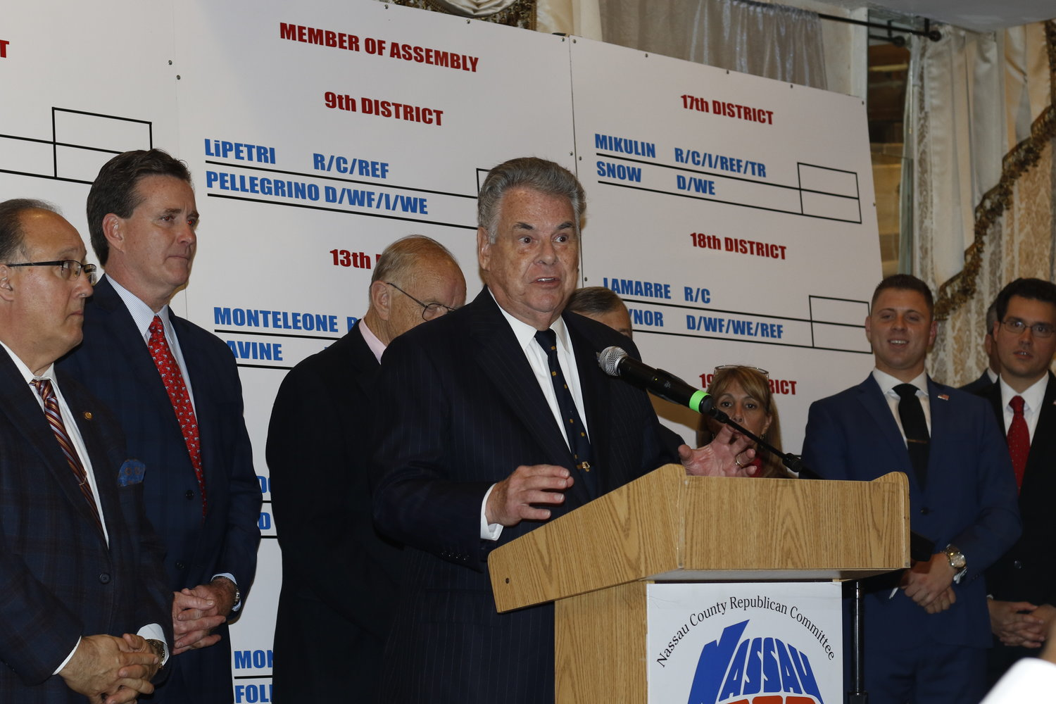 U.S. Rep. Peter King won his bid for a 14th term in the 2nd Congressional District.