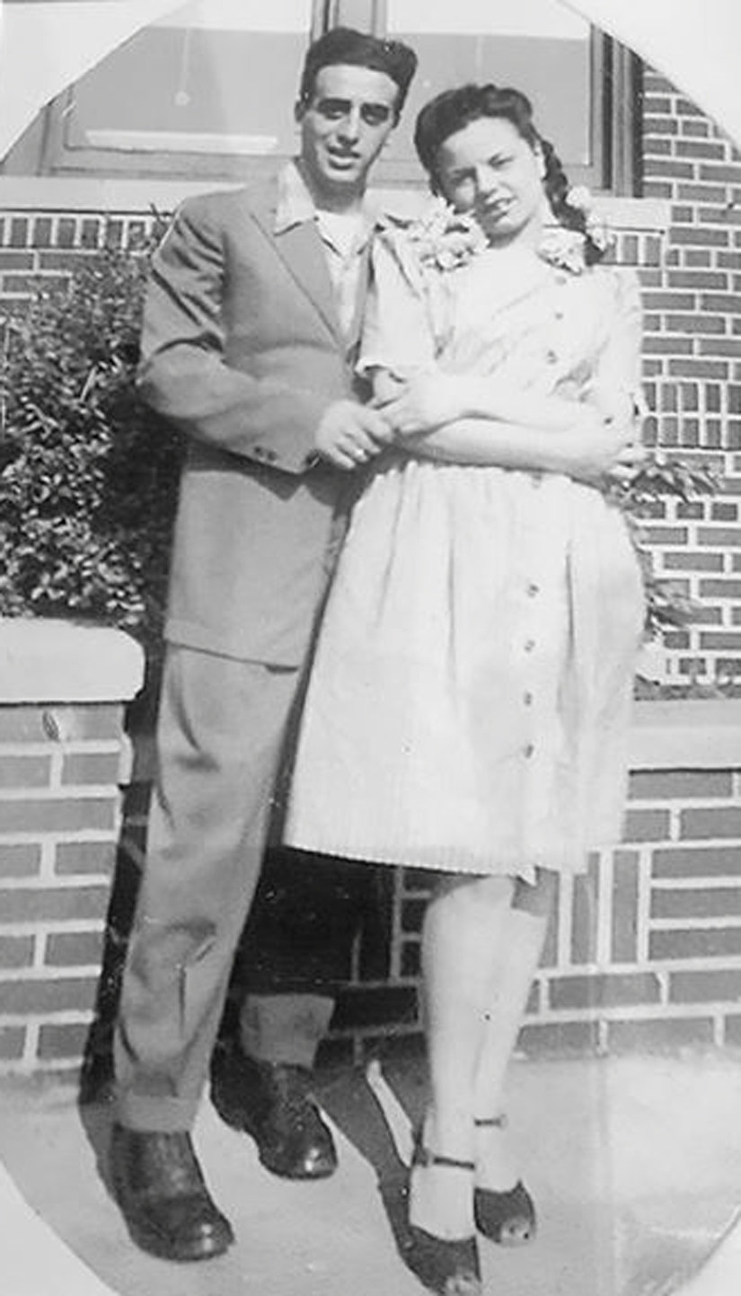 A high-school-aged Pat Albarella with his future wife, Peggy Stango. They met at Boise High School in Brooklyn.
