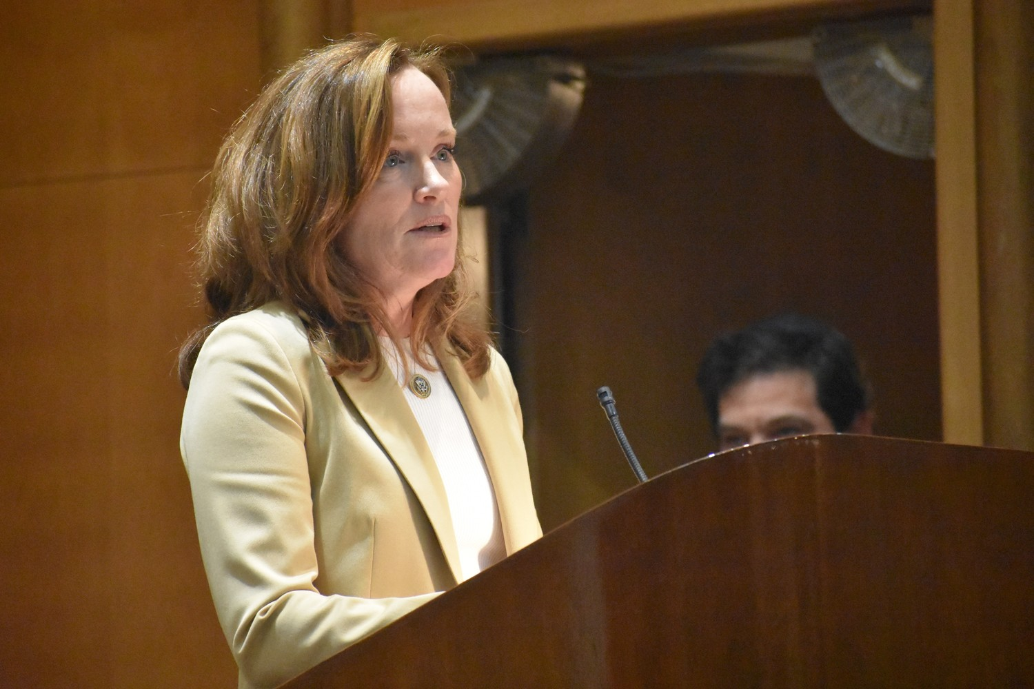 U.S. Rep. Kathleen Rice said the shooting shows the need for stricter gun laws.