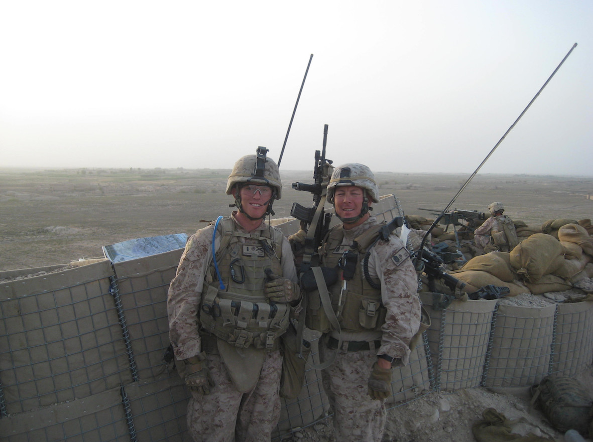 James Ferguson, left, served with Master Sgt. David Pruden in Afghanistan in 2010.