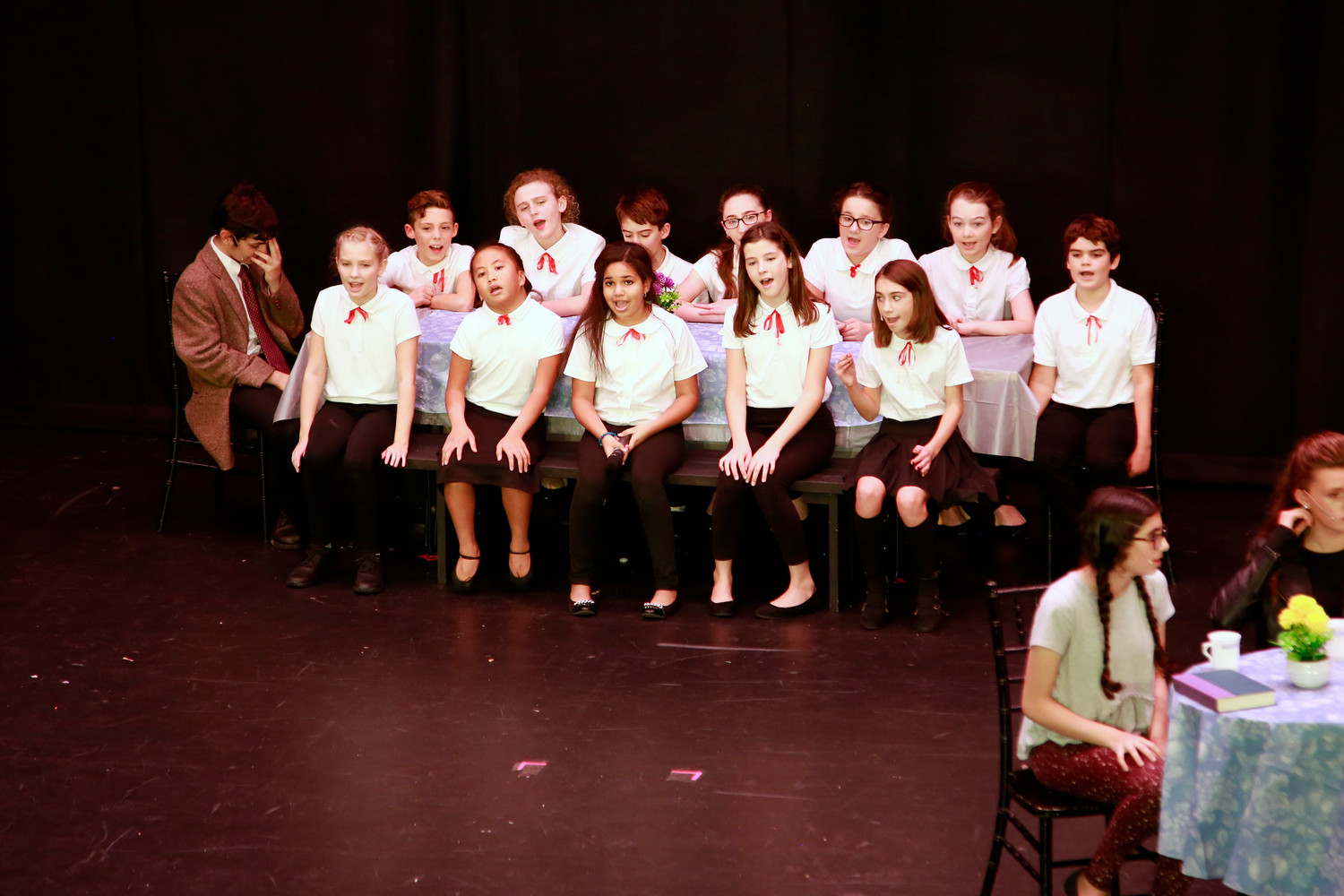 "Sixth-graders performed ""The Other Generation"" from ""Flower Drum Song."""