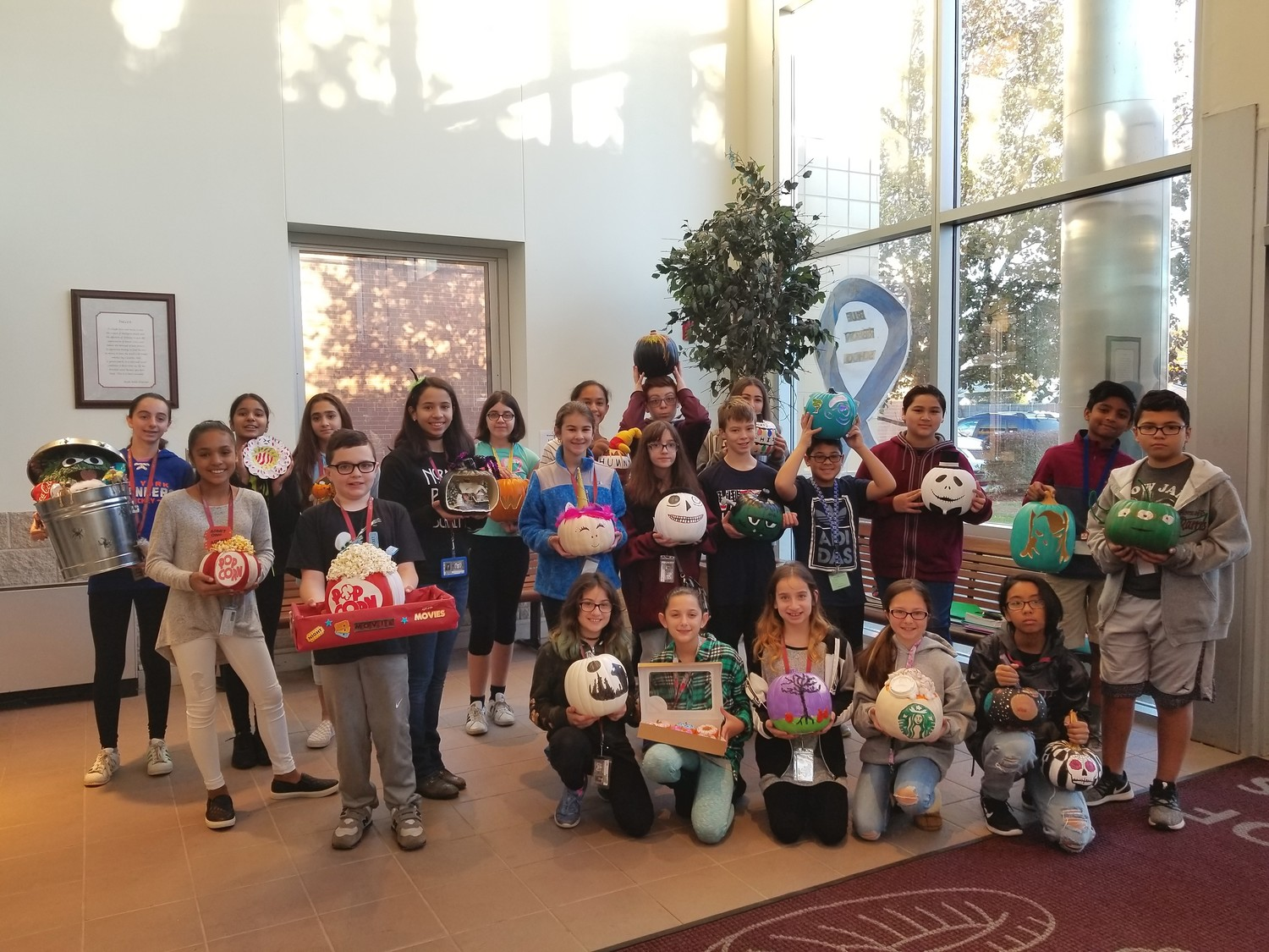 Students at W.T. Clarke Middle School took part in the second annual pumpkin contest to get into the Halloween spirit.