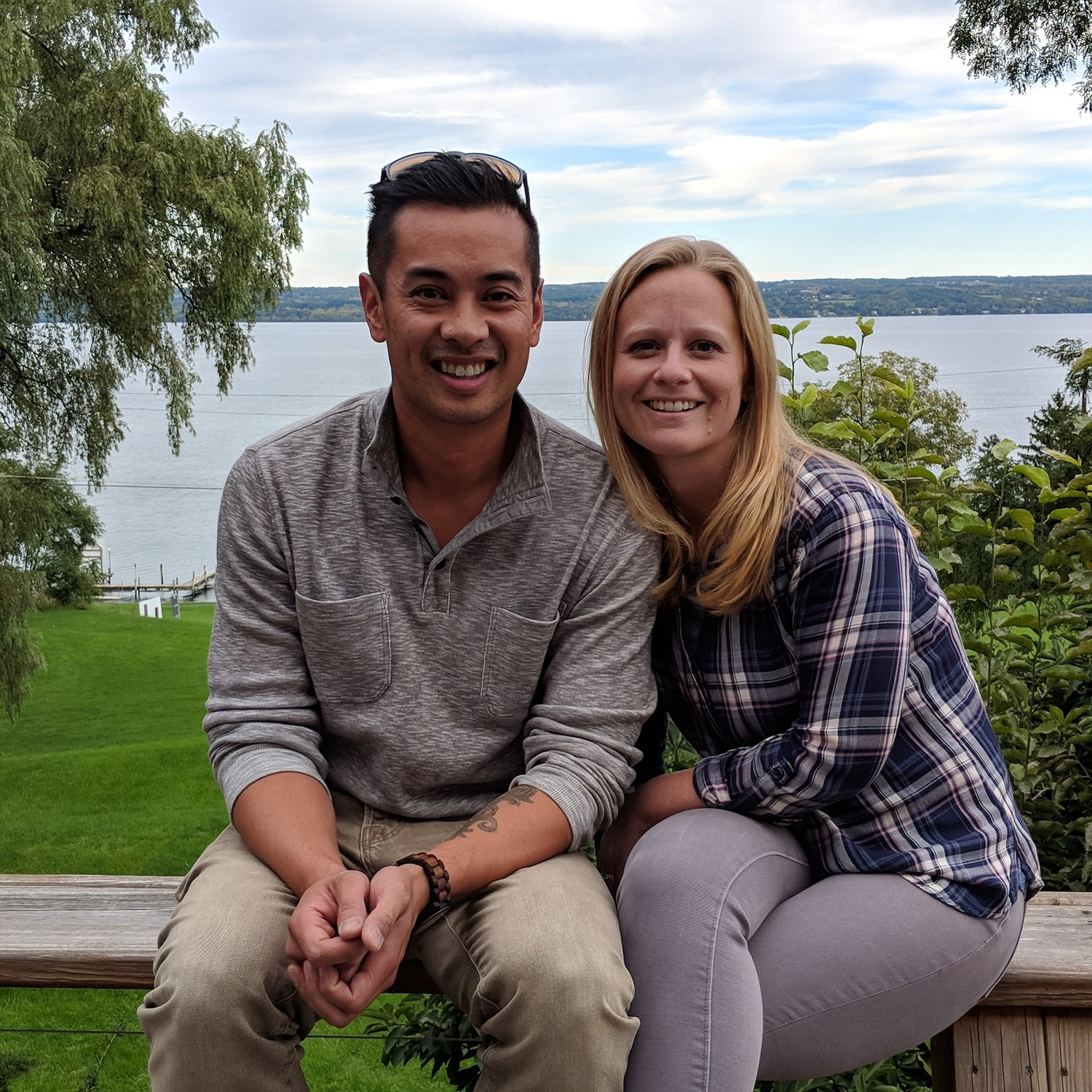Kevin Quiambao, 35, an East Meadow native, left, and Ashley Hall Quiambao, 31, committed to a nomadic lifestyle traveling in a Winnebago Vista they named Wanda — short for Wanderlust.