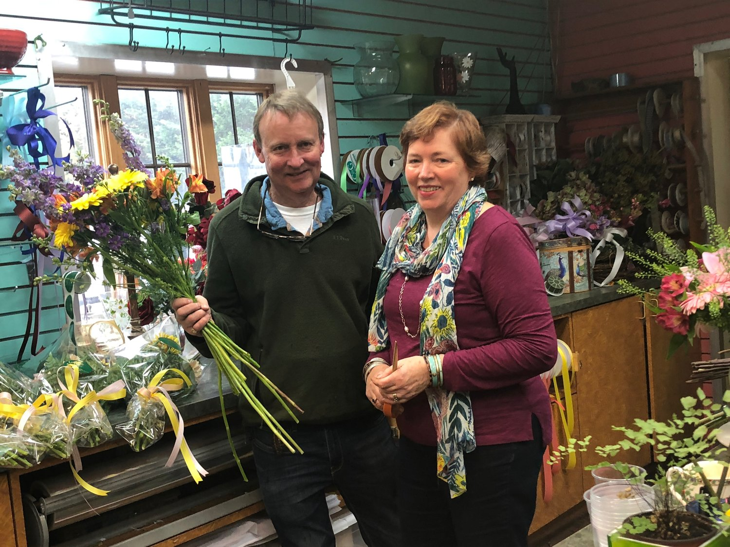 George and Cindy Mudford, the owners of English Country Garden Flowers will be closing shop in January.