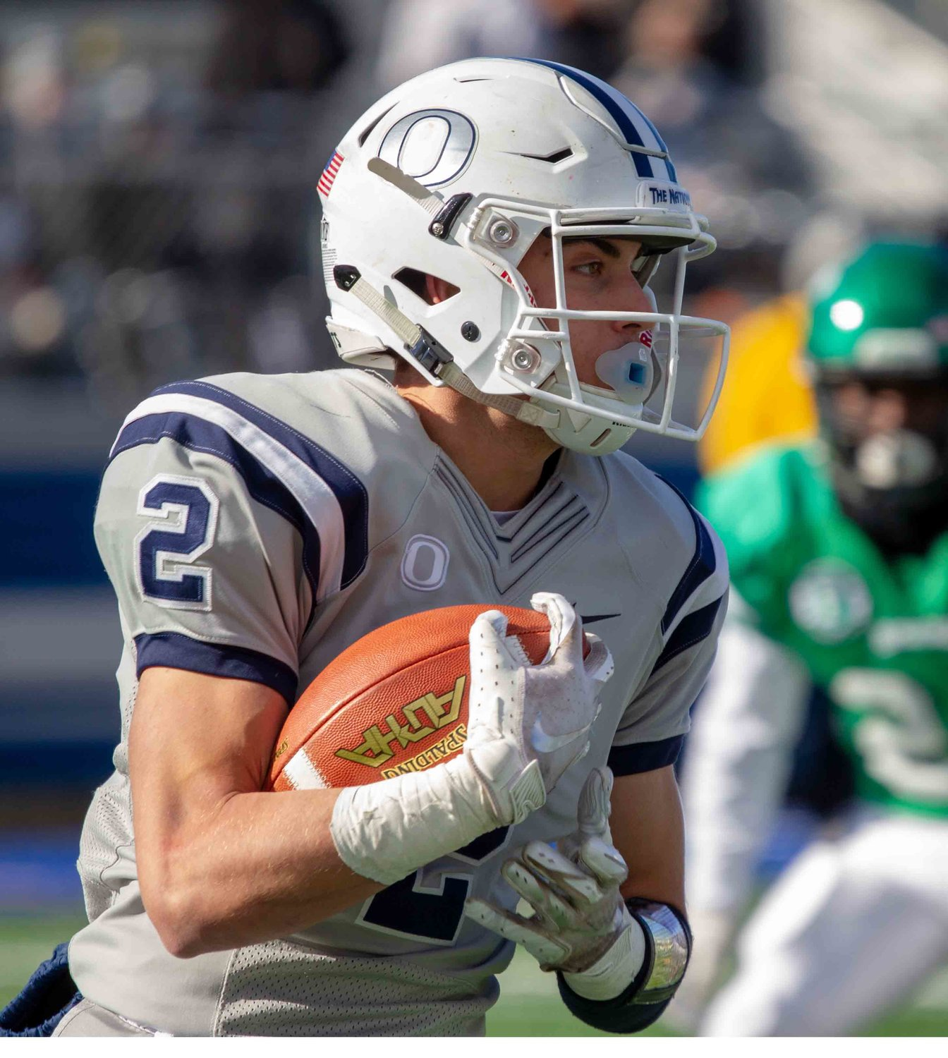 Jake Lazzaro had 309 yards receiving and 5 touchdowns in the Sailors' 62-33 semifinal win over Farmingdale.