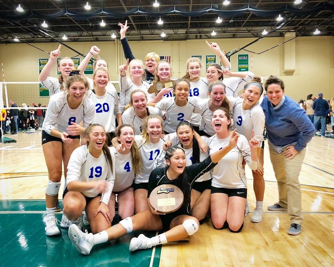 The Lady Marines brought home their first-ever Long Island championship with a wild five-set victory over Commack.