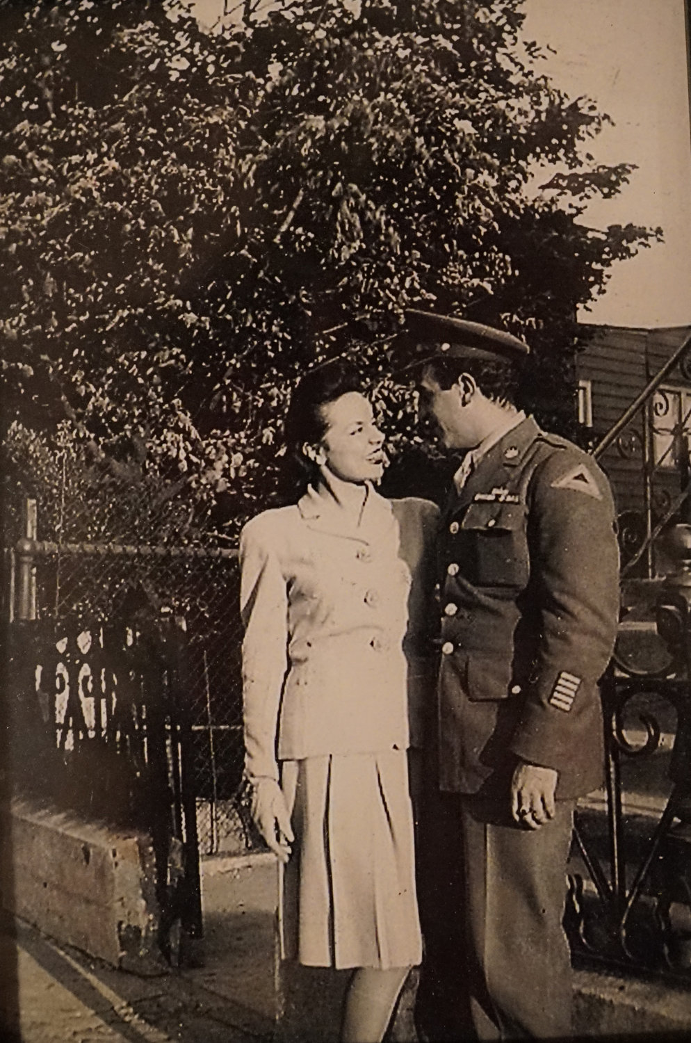 Pat Albarella with his wife, Peggy, shortly after he returned from the war.
