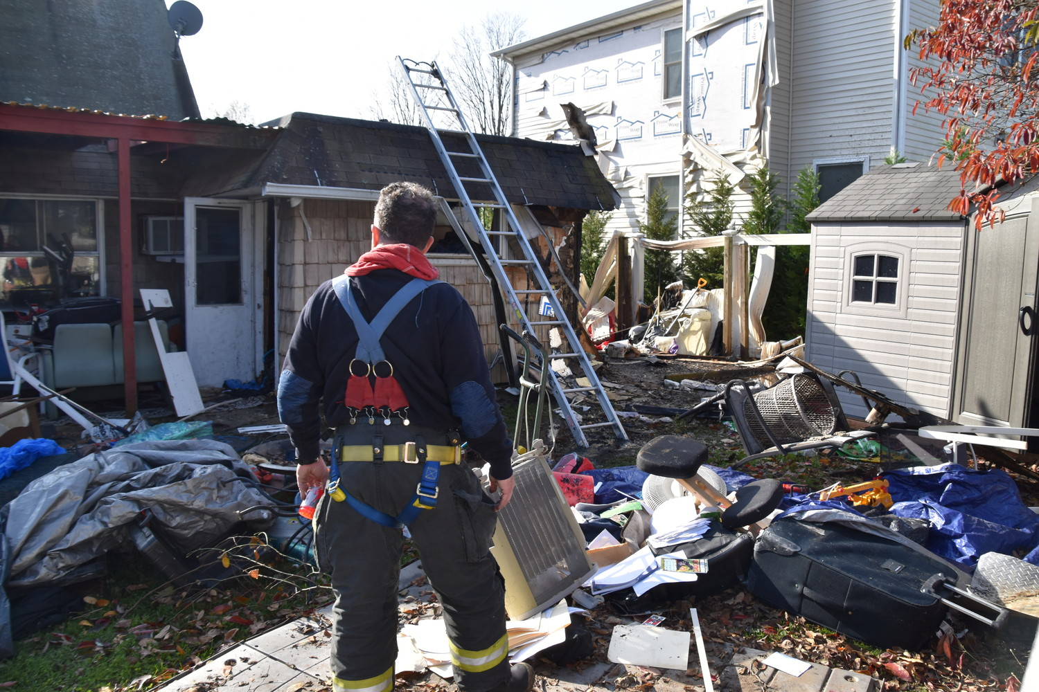 The East Meadow Fire Department responded to a house fire on Friends Lane in Westbury on Nov. 12. The home sustained water damage at the floor, but most personal property was salvageable.