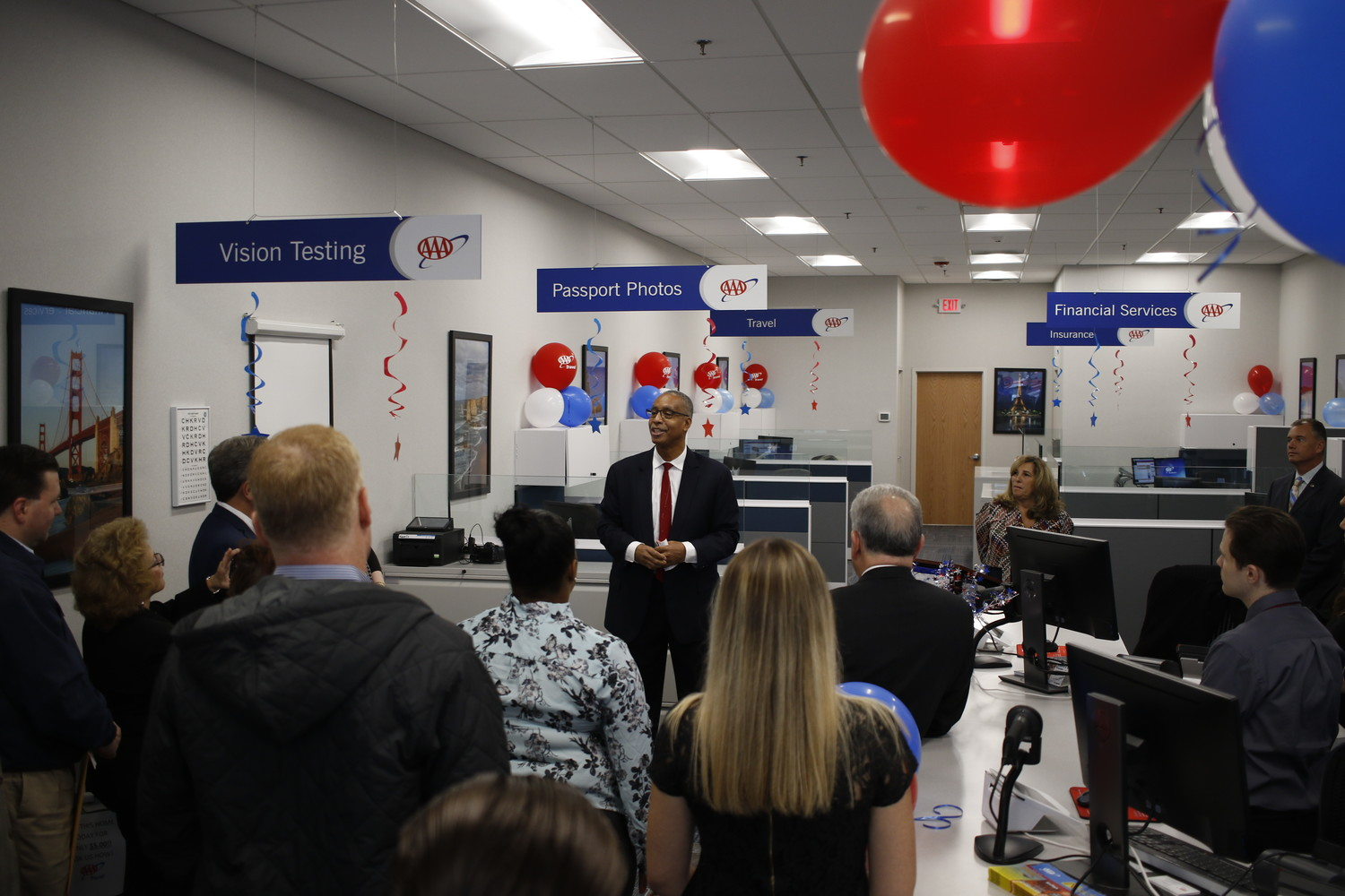 During the ribbon cutting ceremony Robert Sinclair welcomed guests and spoke about AAA and what they do.
