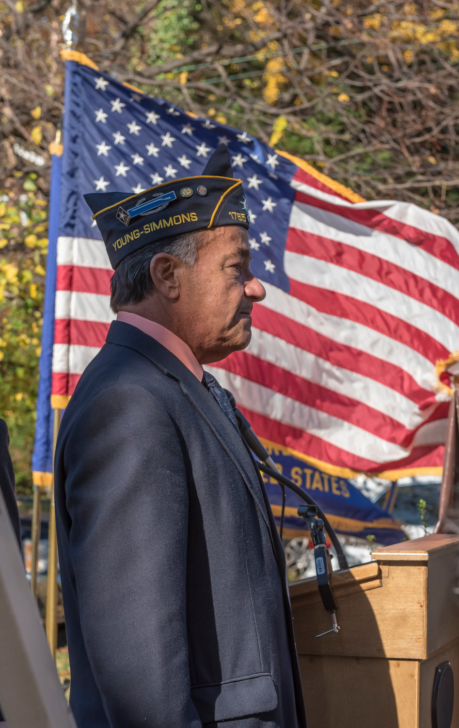 Vietnam veteran Tony Jimenez, the city's director of veterans' affairs, attended the unveiling of the monument on Saturday.