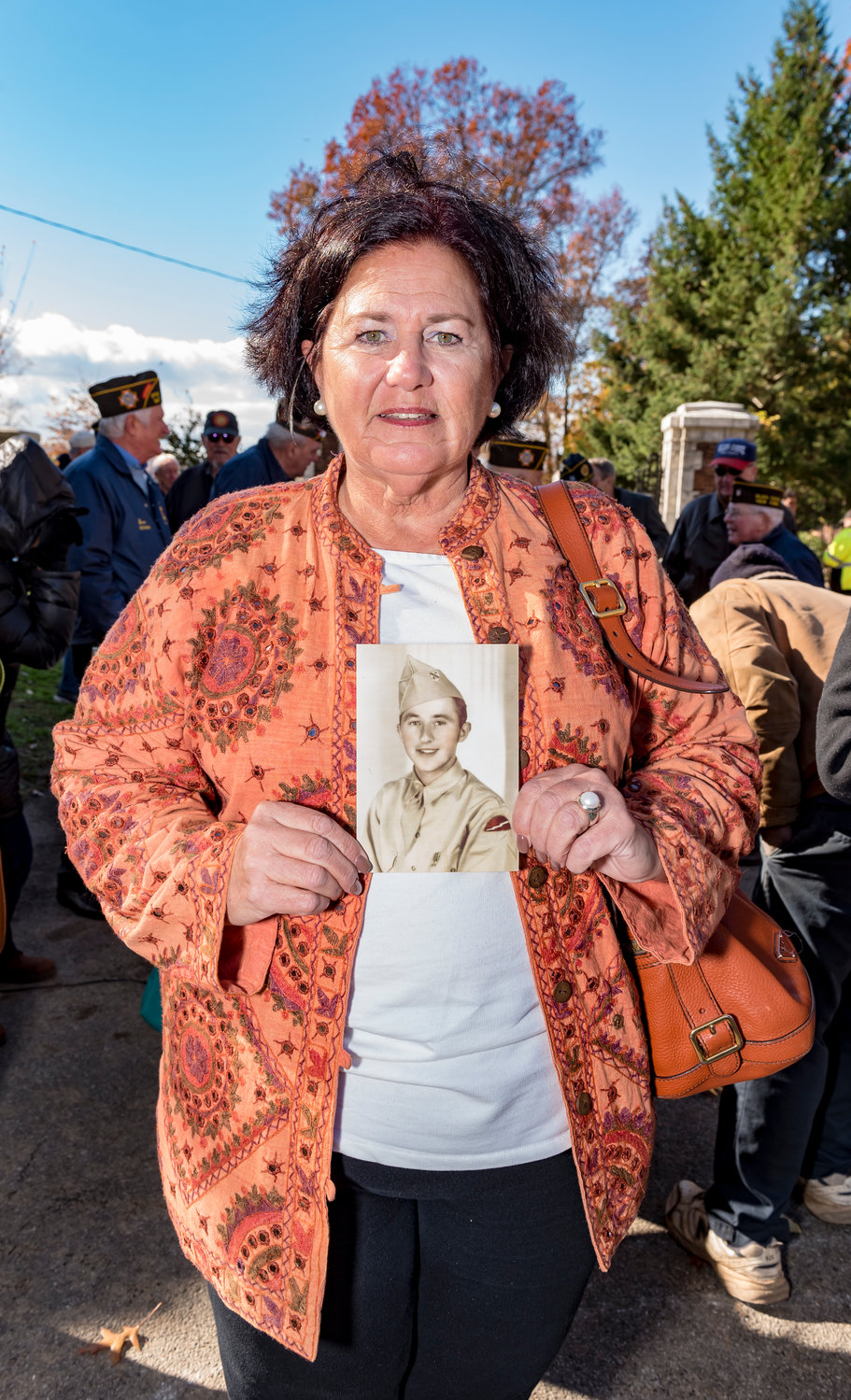 Joan Trubish brought a photo of her father, Adam Trubish.