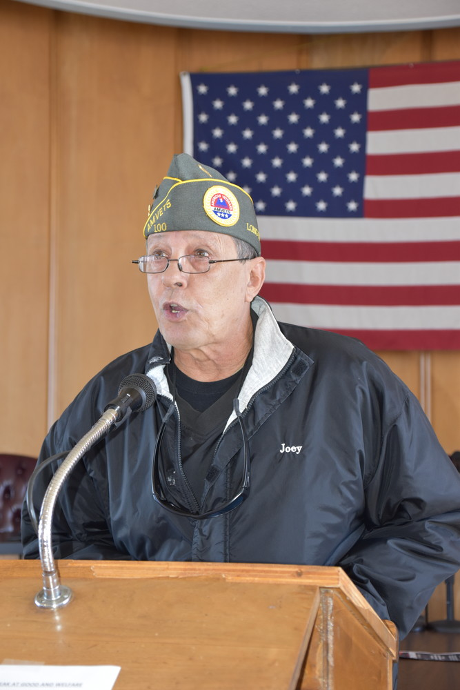 Joe Karom, the former Commander of American Veterans, recited a POW/MIA prayer.