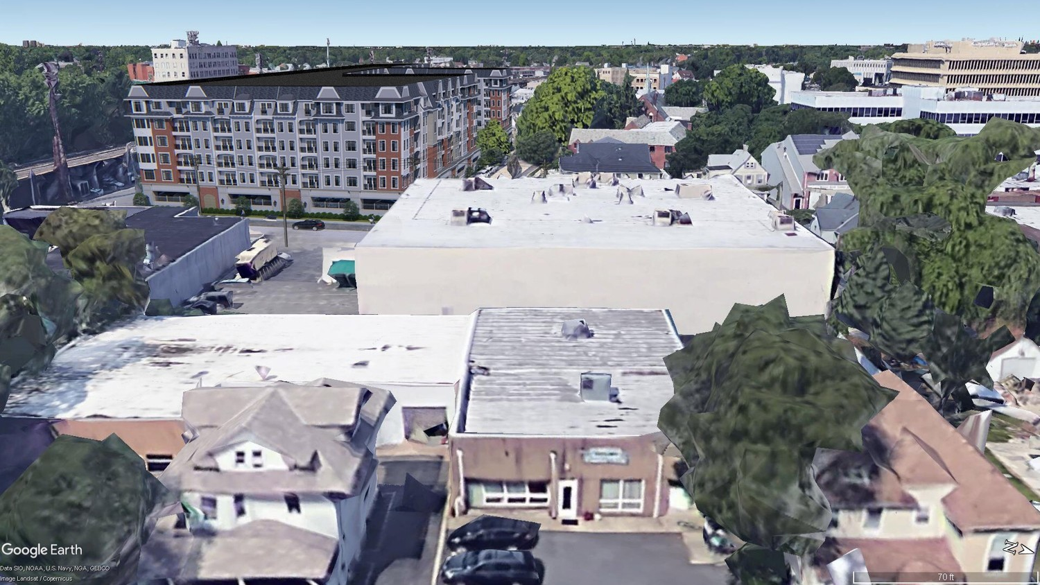 A proposal to build a $75 million, 200-unit apartment complex and a four-story, 400-space parking garage in downtown Lynbrook was denied by the village board on Monday night.