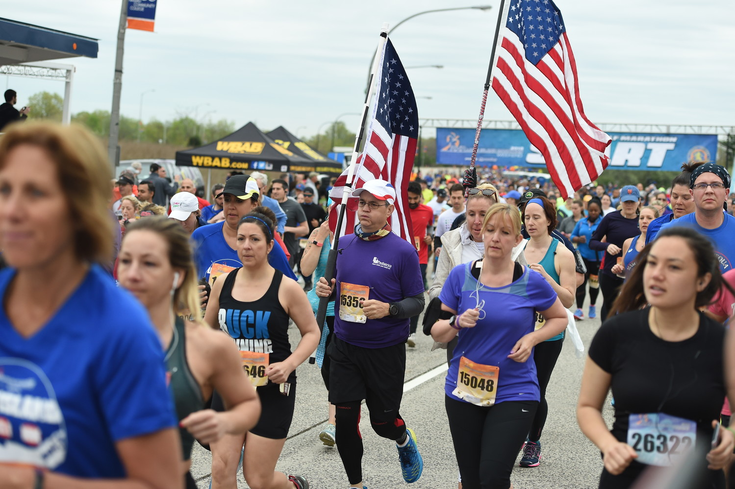 At this year's Long Island Marathon, runners took off from Charles Lindbergh Boulevard, near Nassau Coliseum. Next year's marathon will start at the Merrick Avenue entrance to Eisenhower Park.
