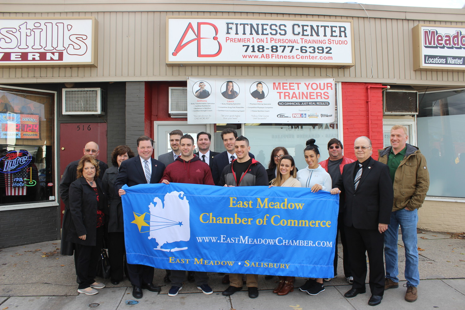 AB Fitness Center recently opened on East Meadow Avenue and was honored with a ribbon cutting presented by the East Meadow Chamber of Commerce on Nov. 16.