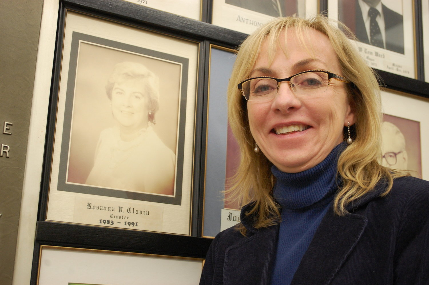 Virginia Clavin-Higgins followed in her mother's footsteps, becoming village trustee herself in 2011.