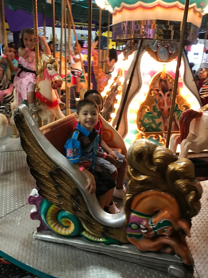 The facility was a popular destination for birthday parties. Angel Colón, 4, rode the carousel during his celebration last year.