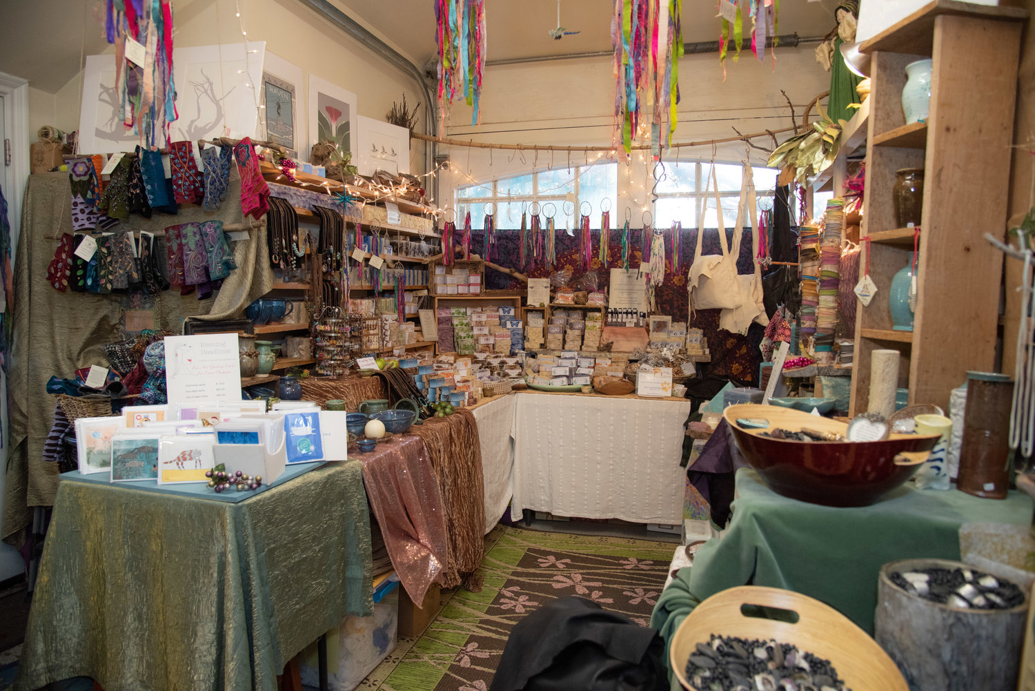 The quaint boutique offers winter-wear, greeting cards, handmade soaps and candles, dream catchers, bags, bracelets and positivity stones.