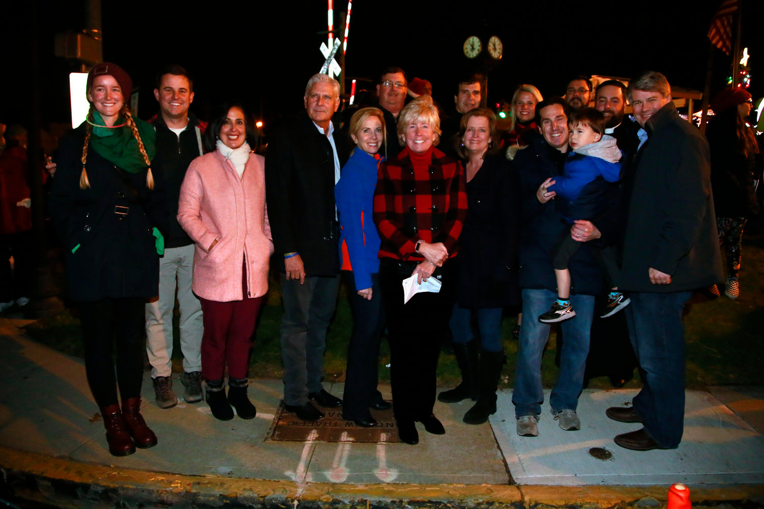 Malverne Mayor Patti McDonald was accompanied by both community and local elected leaders at the village's tree lighting.