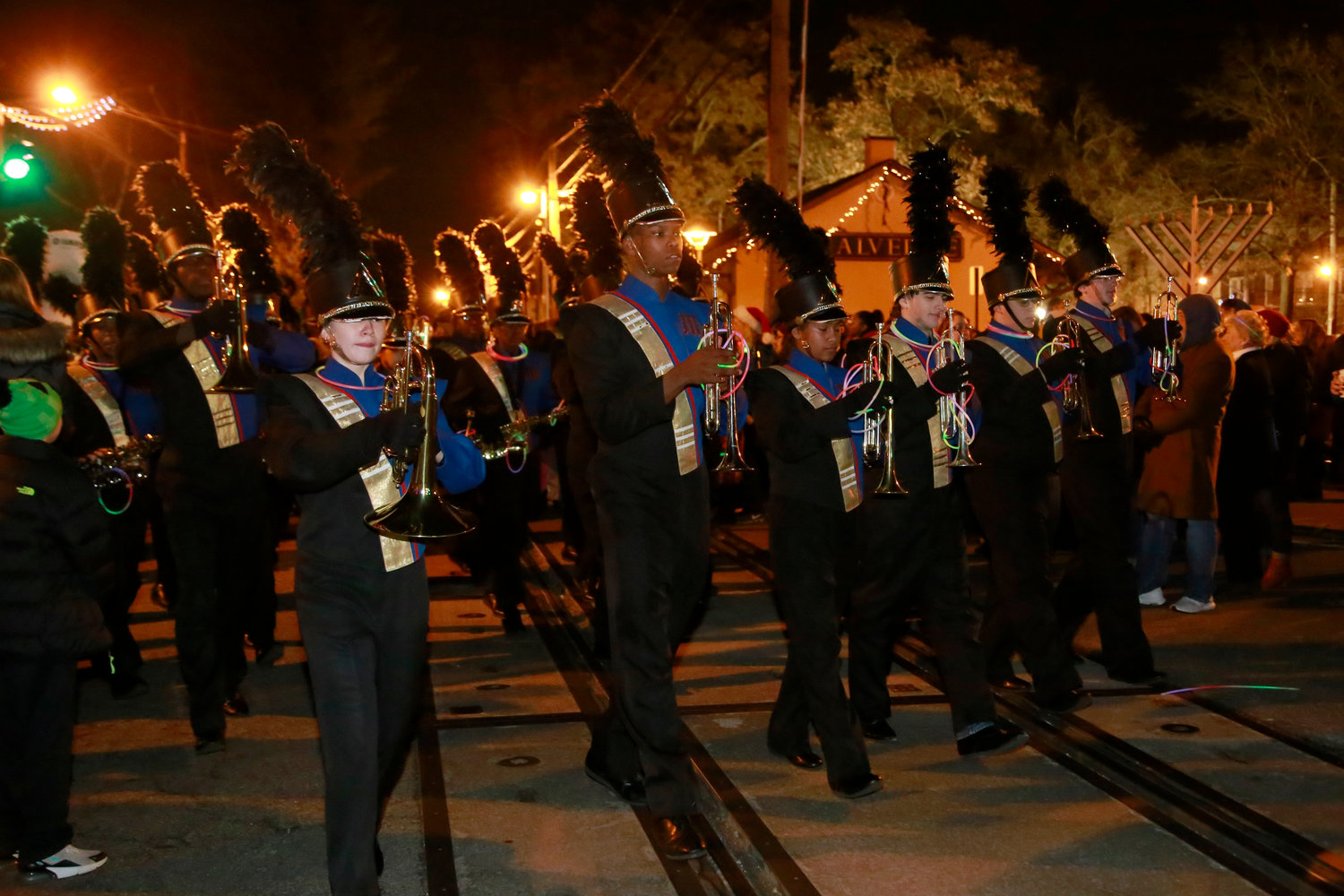 Malverne High School's marching band made its way down Hempstead Avenue.
