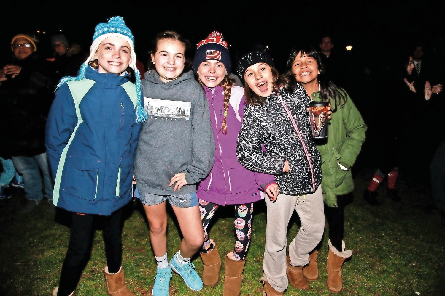 Watson School friends, Ella Faranda, Charly Testerman, Julie Faranda, Alice Hoyos and Kayla Rosales.