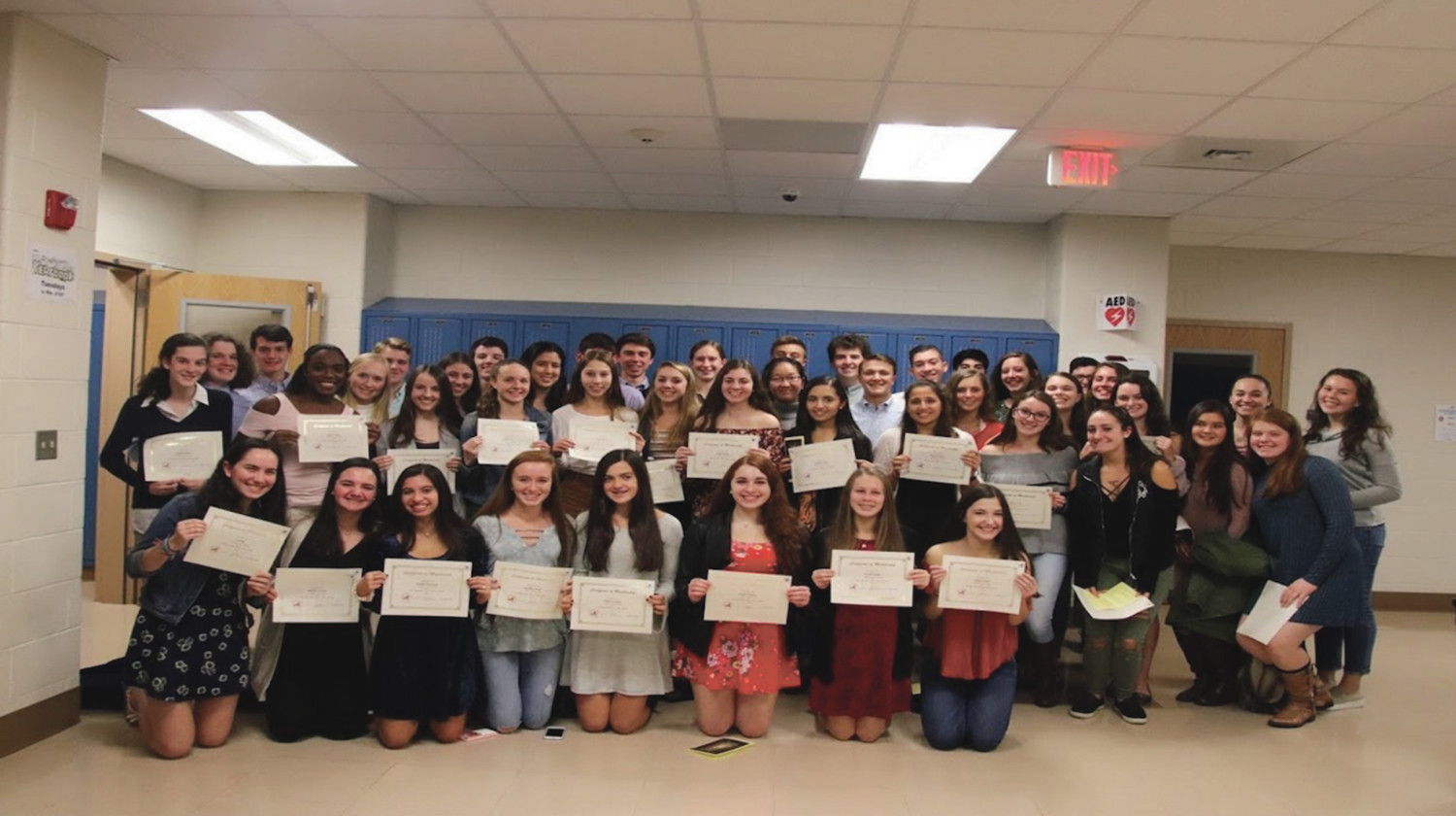 Four-dozen South Side High School students were inducted into the state's science honor society.