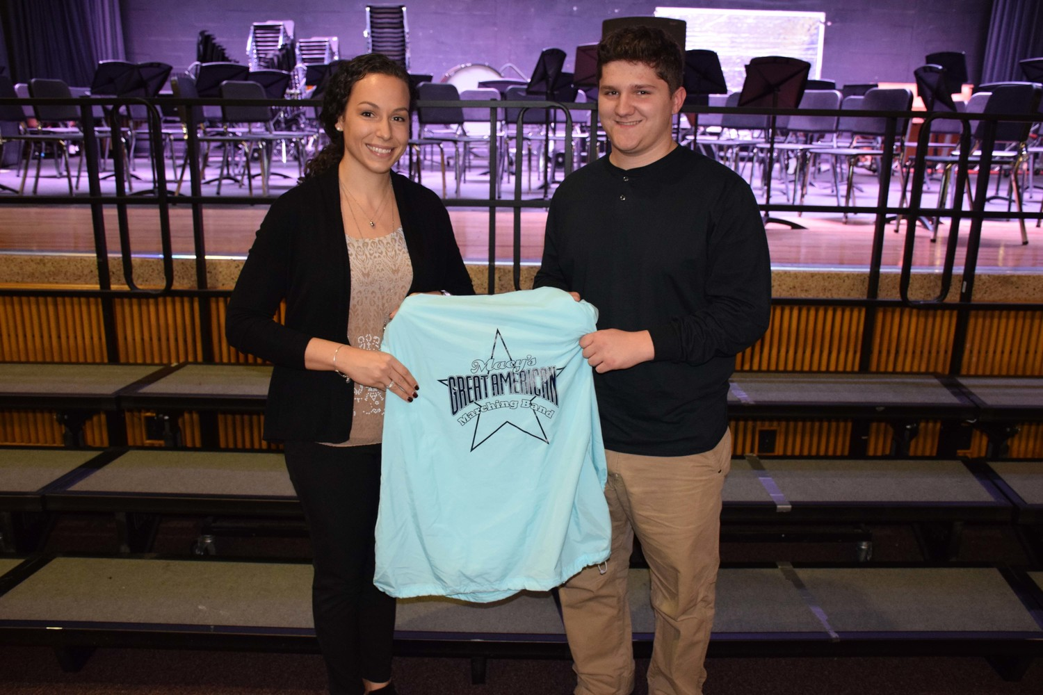 Junior Matthew Michaelis was encouraged by W.T. Clarke High School music teacher Molly Ingoglia to submit an application to earn placement on the Macy's Great American Marching Band.