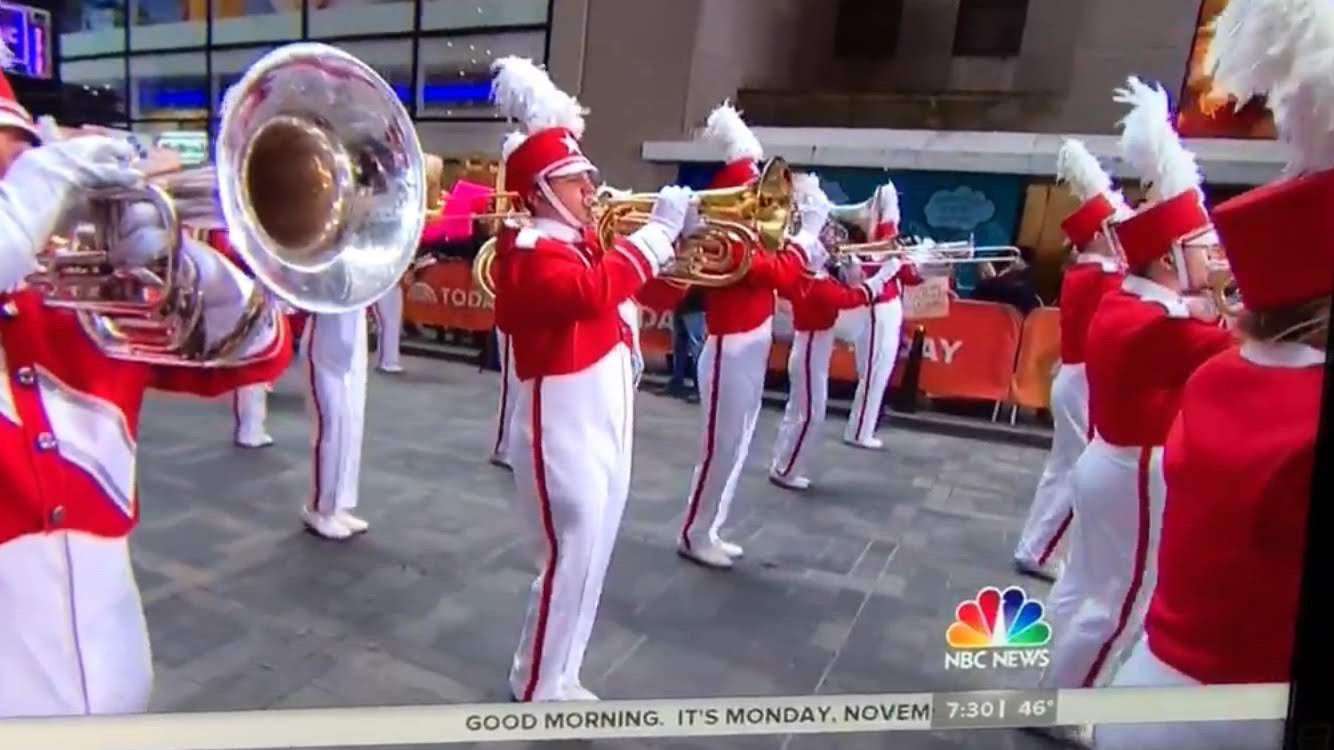 W.T. Clarke High School junior Matthew Michaelis performed with the Macy's Great American Marching Band during the NBA Today Show on Nov. 19.