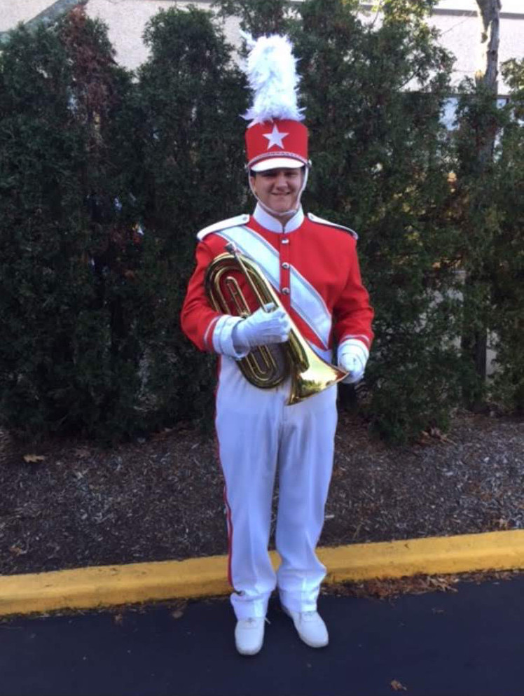 W.T. Clarke High School junior Matthew Michaelis was one of 225 high school students from across the country to come together to form the Macy's Great American Marching Band.