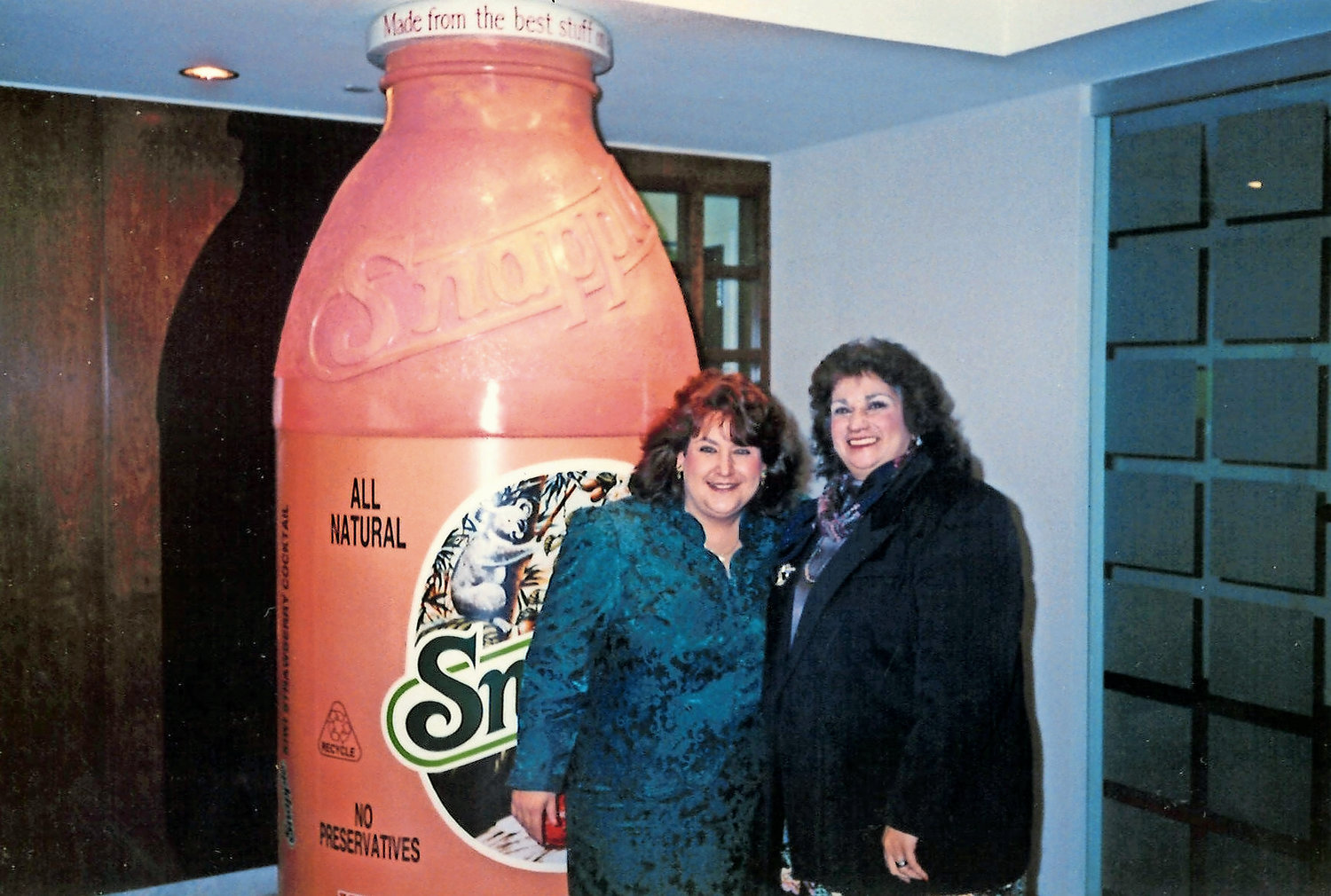 Long Island Breakfast Club founder Valentina Janek, right, met former Snapple spokeswoman Wendy Kaufman during her look-alike competition at a Snapple convention about 16 years ago at Hofstra University.