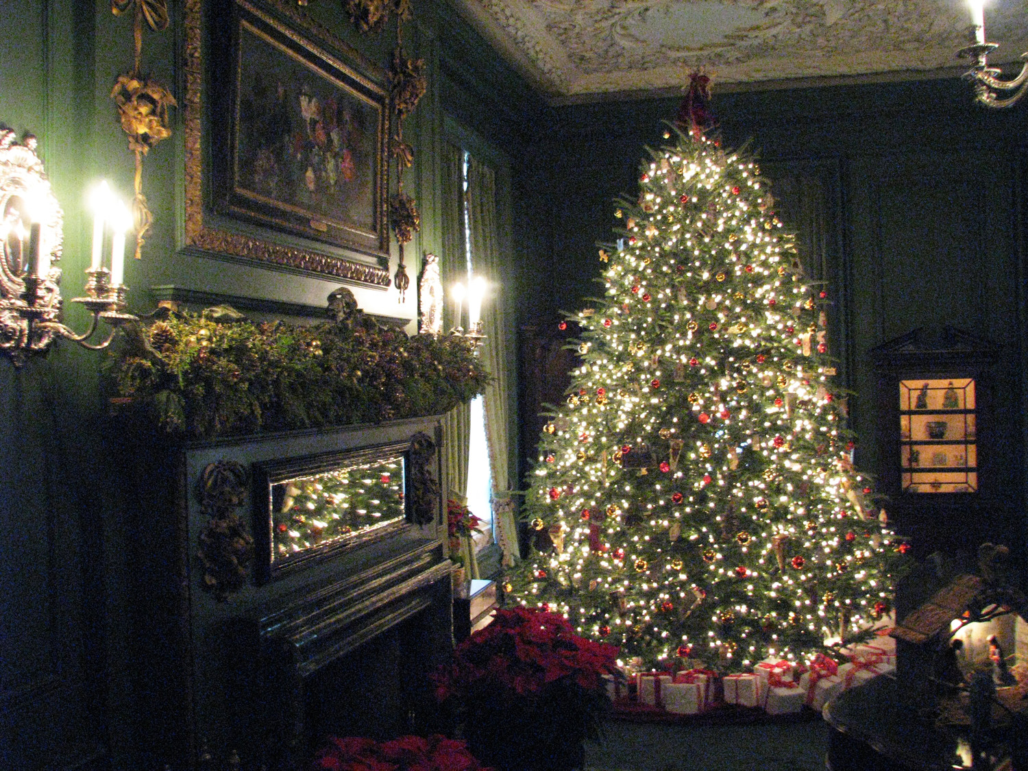 Old Westbury Gardens' much-loved annual seasonal bash is in full swing at Westbury House. The home's period rooms glitter with their holiday finery.