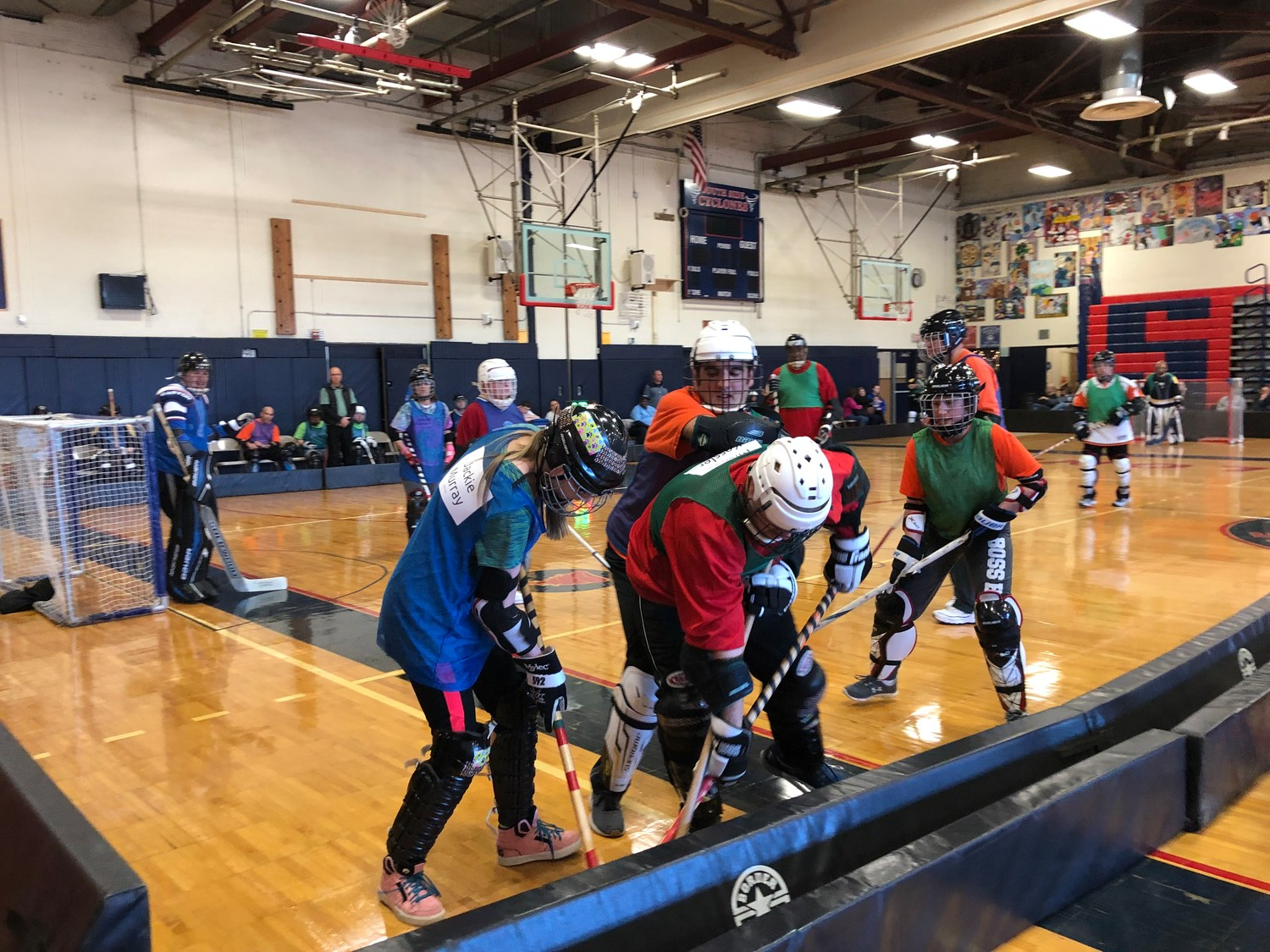 Athletes competed in spirited floor hockey games at South Side High School on Dec. 1.