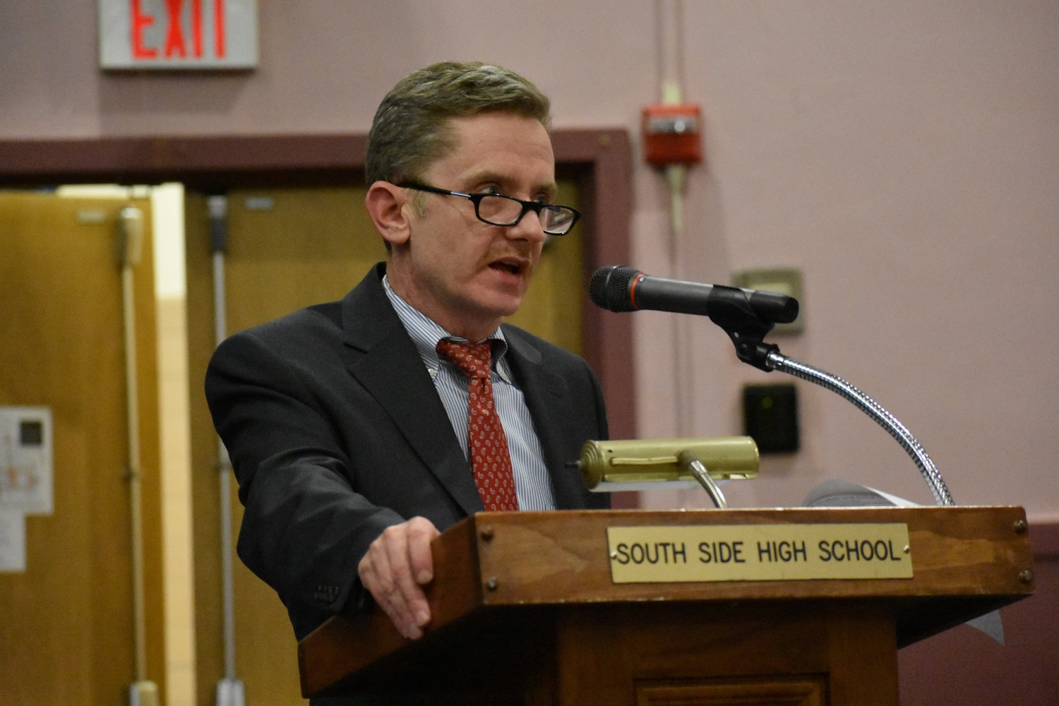 South Side High School Principal John Murphy said the school district was working hard to ed-ucate students while not overworking them.