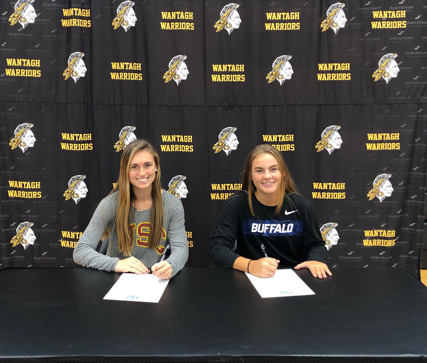 Danielle Carson, who is off to the University of Southern California, and Erin Murphy, who is headed to SUNY Buffalo, signed letters of intent late last month.