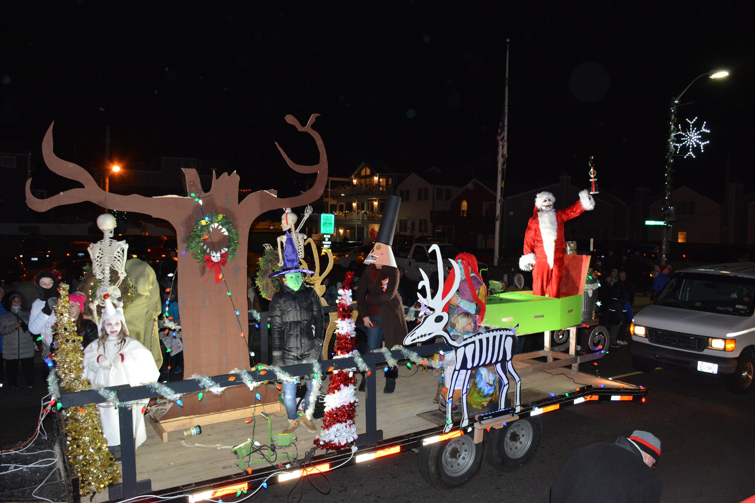 The Nightmare Before Christmas float by A & E Builders won the top prize.