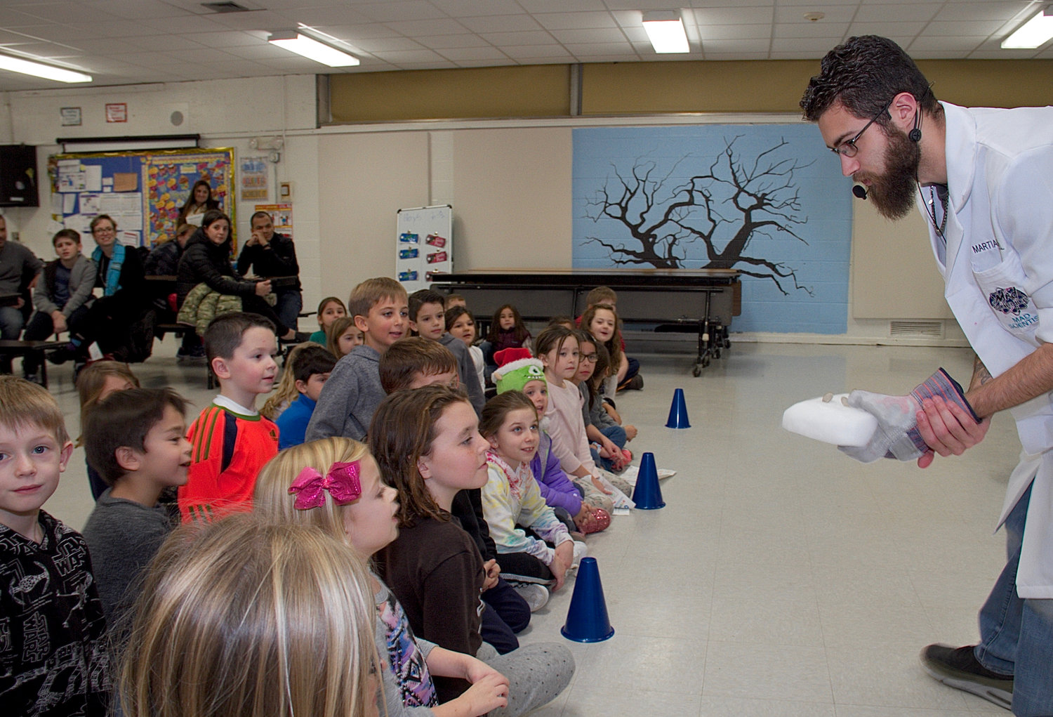 Michael Lopalo, from Mad Science Long Island, shared some of his secret experiments.
