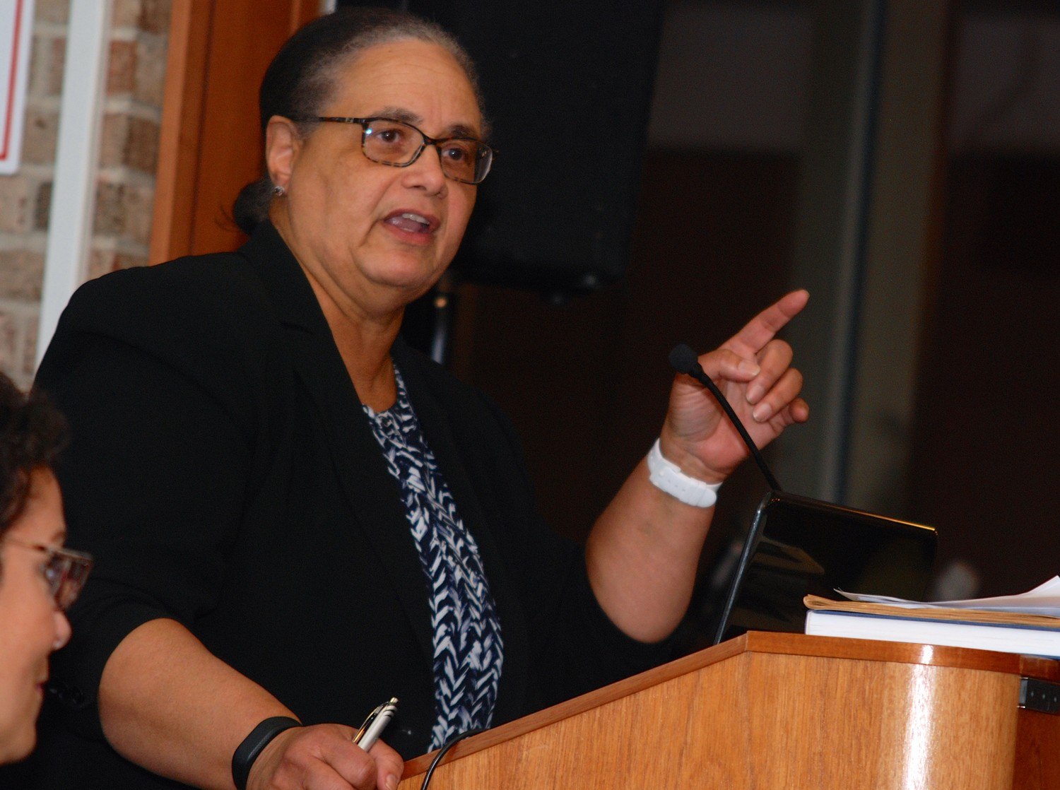 "Newsday columnist Joye Brown said she has been a ""dispassionate observer"" of the politics behind race for more than three decades."