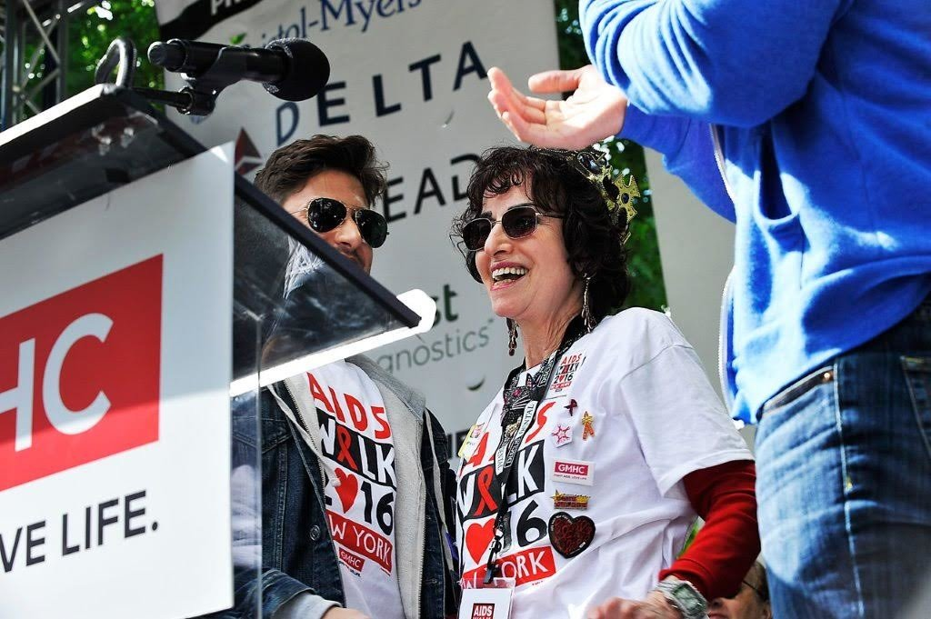 Goldstein was honored at the opening ceremonies of AIDS Walk 2016.