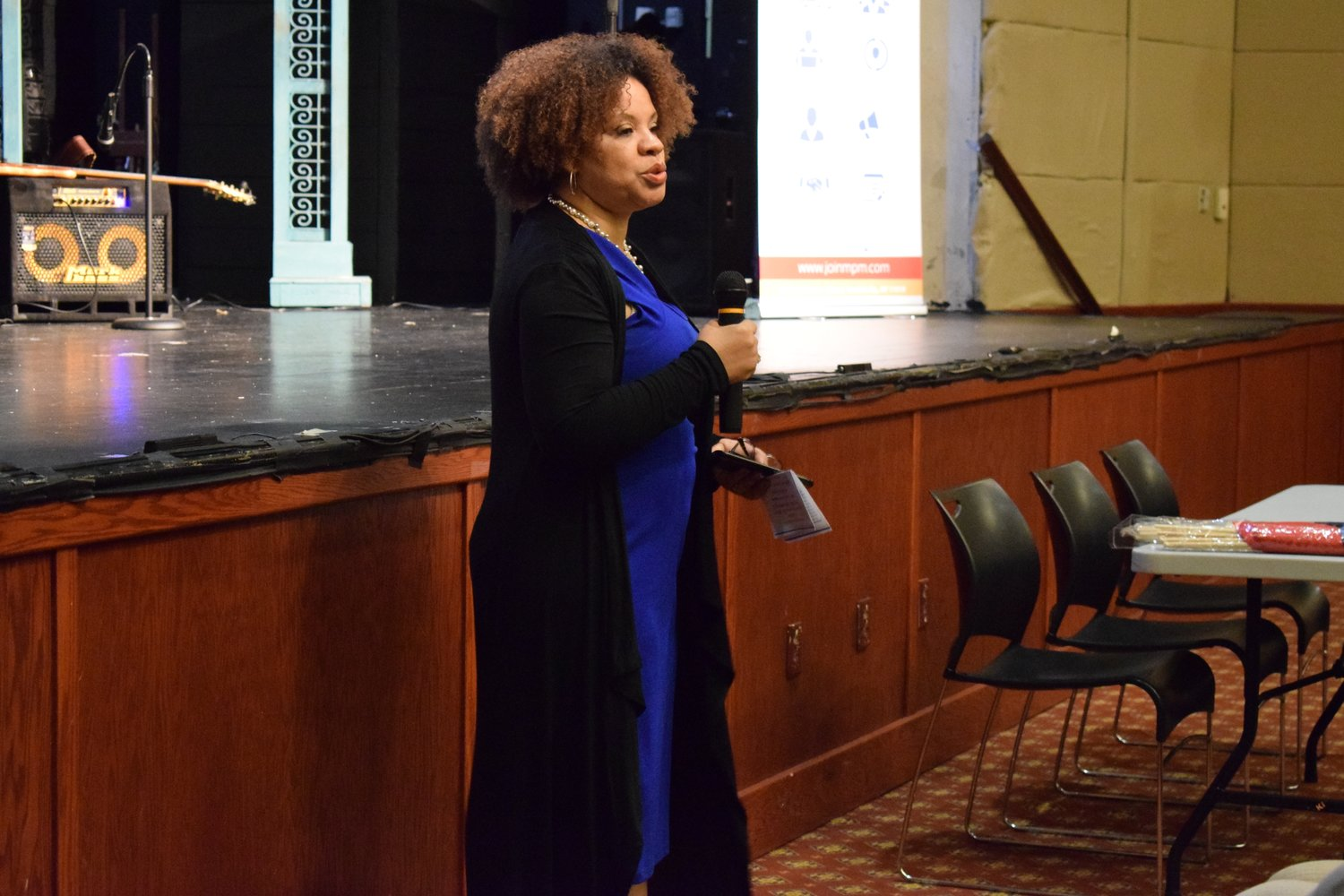 "Mimi Pierre-Johnson led Elmont's Haitian community as the master of ceremonies during the ""Haiti is Beautiful"" cultural event in February."