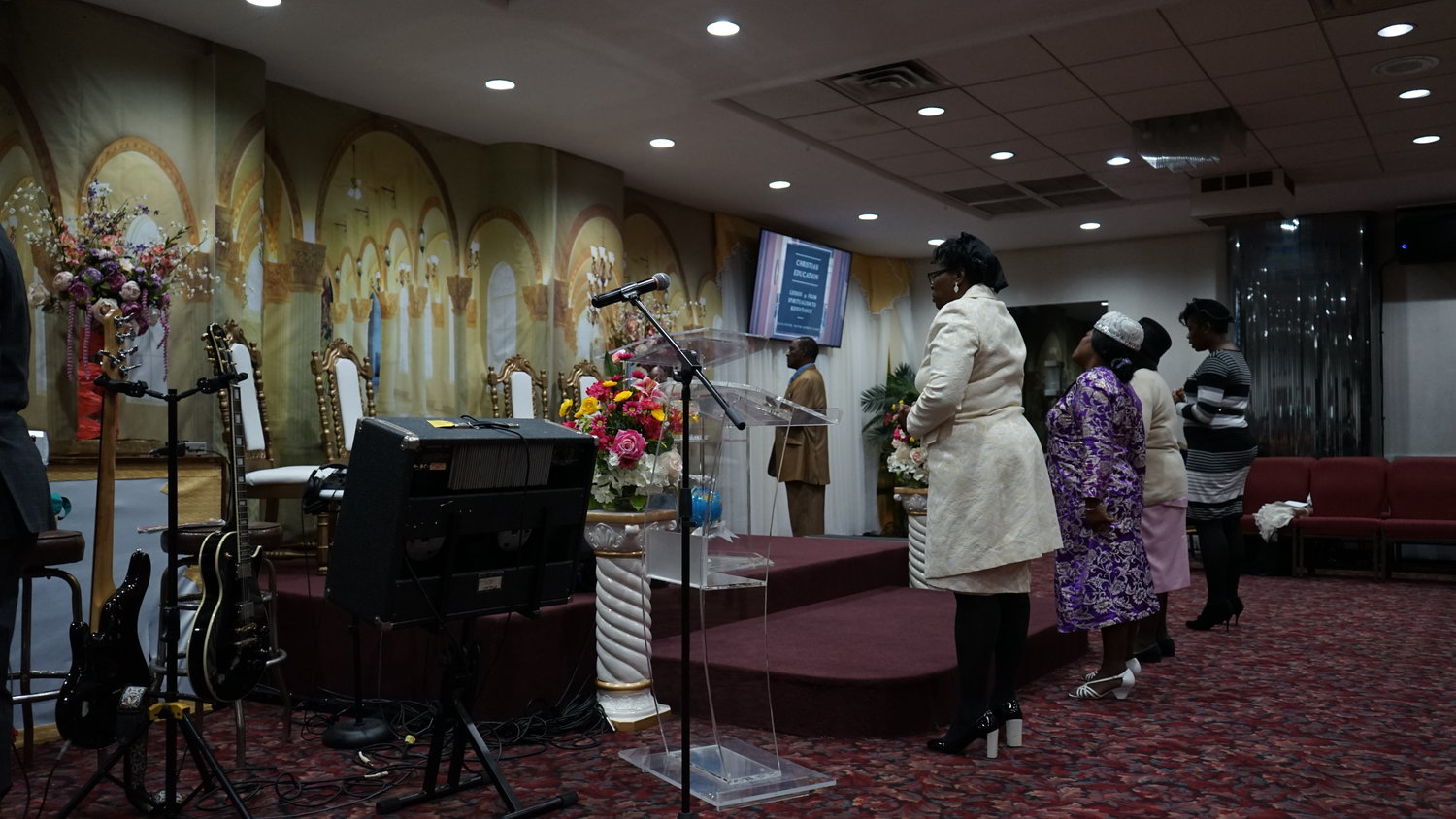 Apostolic Church worshipers prayed during a Sabbath in November.