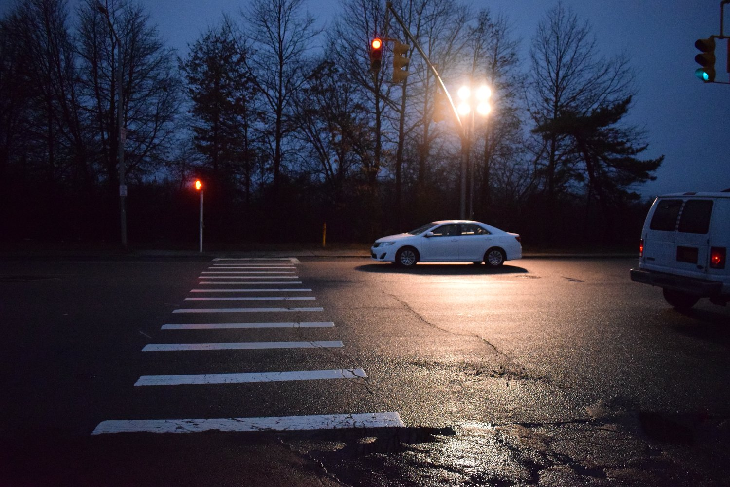 A 16-year-old Elmont Memorial High School student was struck at the intersection as he was heading for the school's winter concert on Dec. 20. The county had placed temporary floodlights to increase the visibility in the area for students.