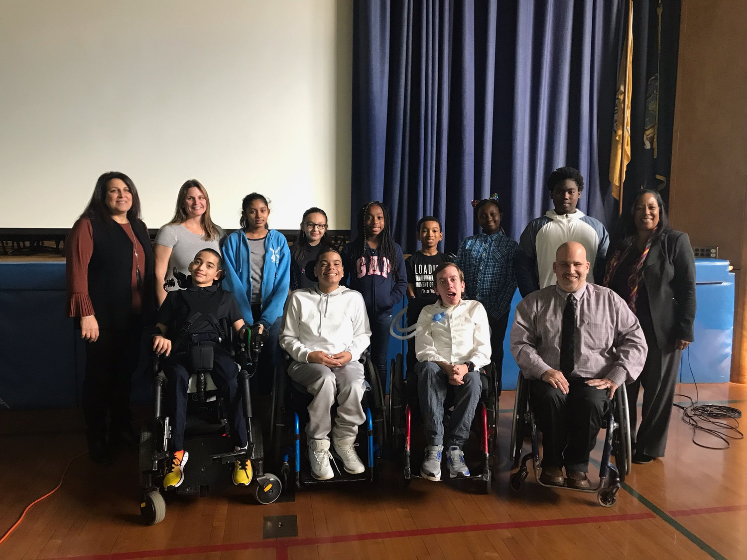 Dutch Broadway School students and officials celebrated their school's sixth annual Disability Awareness Day with representatives from the Henry Viscardi School for children with physical and medical disabilities.