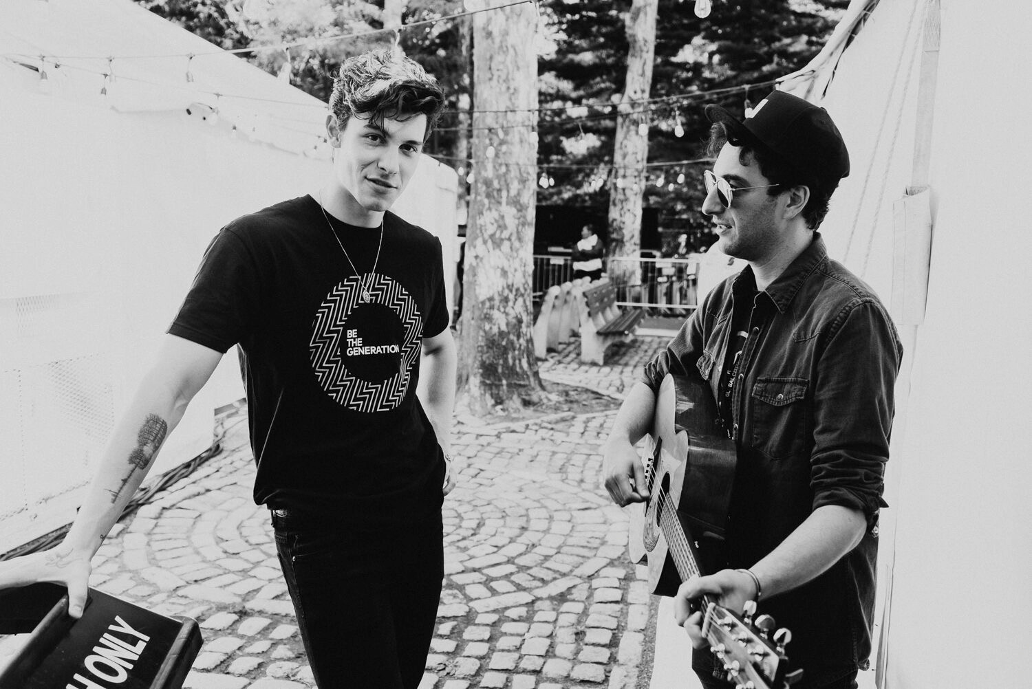 Scott Harris, 34, right, has worked with 20-year-old Shawn Mendes for about five years as the pop star rose to fame.