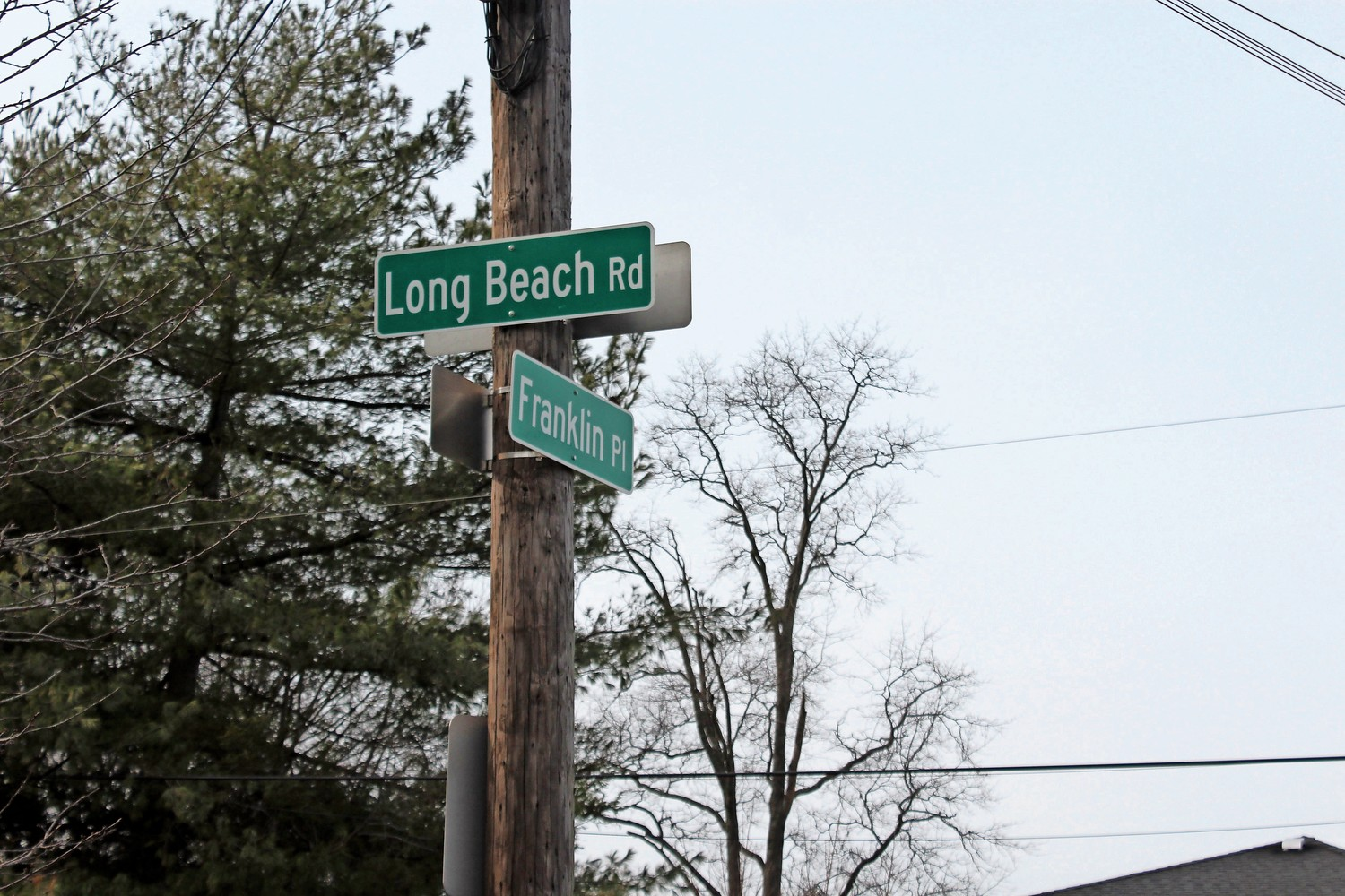 Residents who live on the corner of Long Beach Road and Franklin Place have asked the county to inspect deteriorating road conditions.