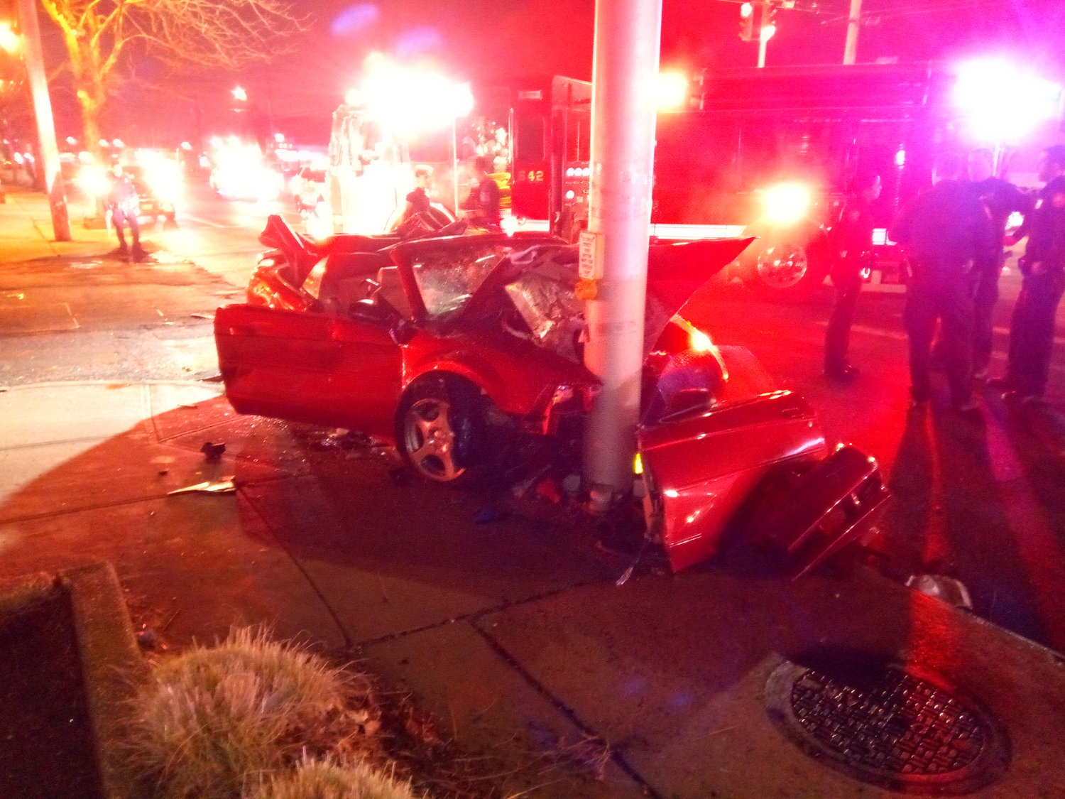 Five Kennedy students were hospitalized after this crash Tuesday night.