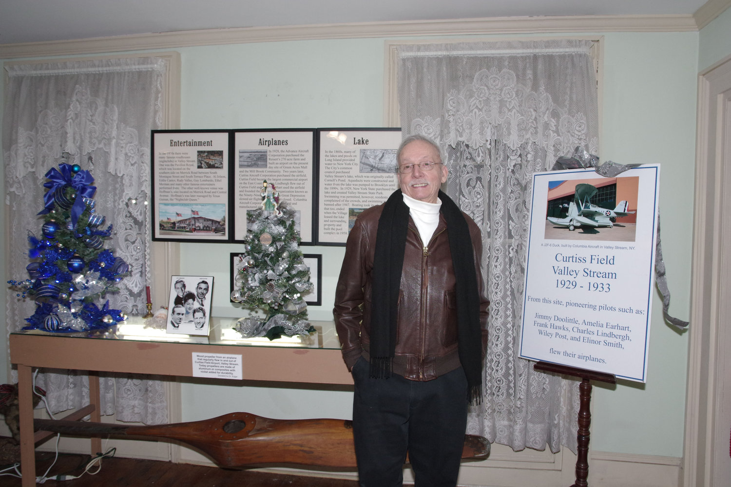 Historical Society President Guy Ferrara gave presentations on Valley Stream's rich aviation history.